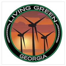 Living Green Georgia Wind Power Poster