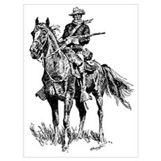 Old Bill Cavalry Mascot Poster