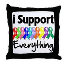 I Support All Causes Throw Pillow
