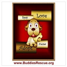 Adopt Love Spay Neuter Canvas Art