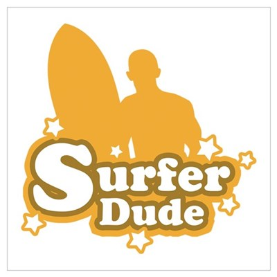 Surfer Dude Canvas Art