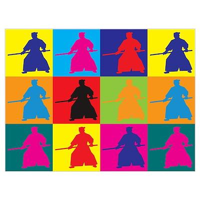 Aikido Pop Art Poster