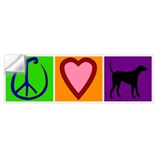 Peace Love Black Labs Wall Decal