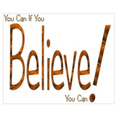 Believe! (Orange) Framed Print