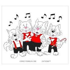 Chorus Singing Cats Poster