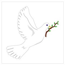 Dove with Olive Branch Framed Print