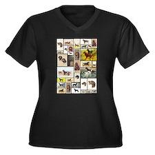 Cute Gordon setter Women's Plus Size V-Neck Dark T-Shirt