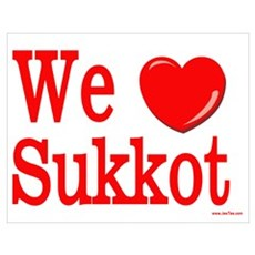 We Love Sukkot Poster
