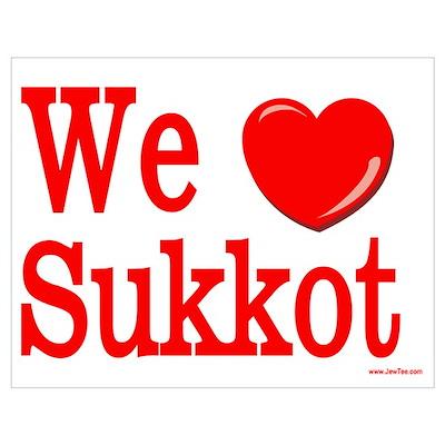We Love Sukkot Poster