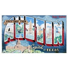 Greetings from Austin Framed Print