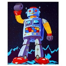 Grandstander robot Poster