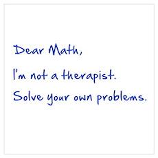 Dear Math Poster