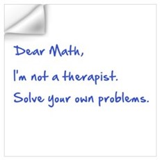 Dear Math Wall Decal