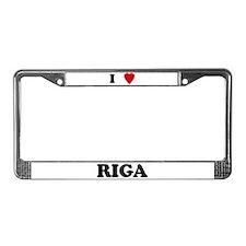 I Love Riga License Plate Frame