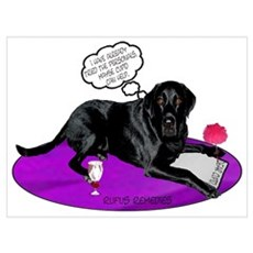 Black Lab Cupid Framed Print