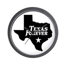 Texas Forever (Black - Cutout Ltrs) Wall Clock