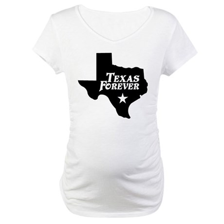 Texas Forever (Black - Cutout Ltrs) Maternity T-Sh