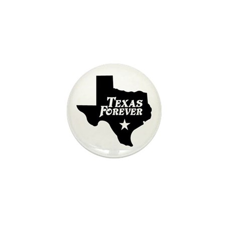 Texas Forever (Black - Cutout Ltrs) Mini Button