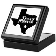 Texas Forever (Black - Cutout Ltrs) Keepsake Box