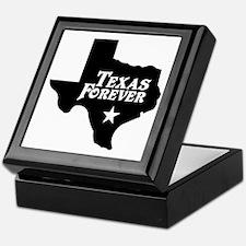 Texas Forever (Black - Cutout Ltrs) Keepsake Box