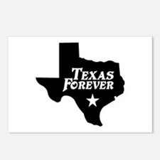 Texas Forever (Black - Cutout Ltrs) Postcards (Pac