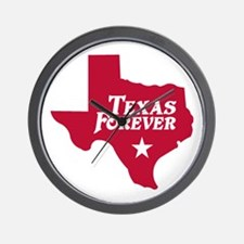 Texas Forever (Red - Cutout Ltrs) Wall Clock