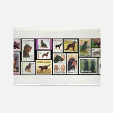 Cute Dog stamps Rectangle Magnet