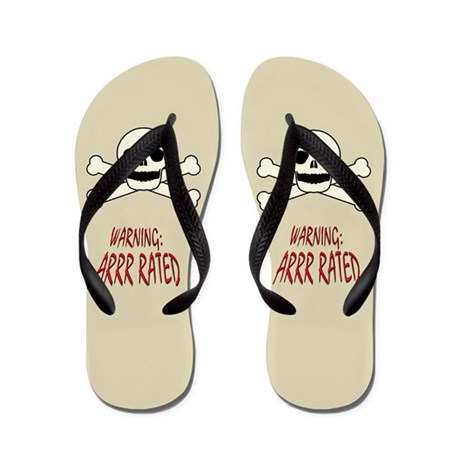 Arrr Rated Pirate (R-Rated) Flip Flops