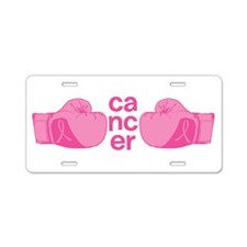 Punch Cancer Aluminum License Plate