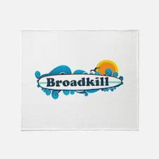 Broadkill Beach DE - Surf Design Throw Blanket