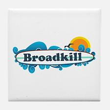 Broadkill Beach DE - Surf Design Tile Coaster