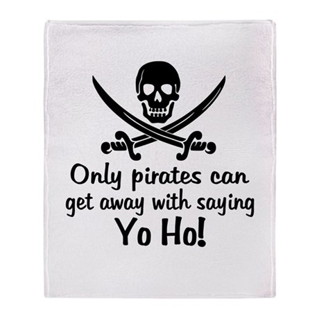 Pirate - Yo Ho Throw Blanket