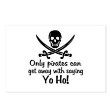Pirate - Yo Ho Postcards (Package of 8)