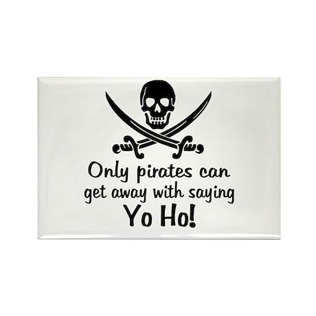Pirate - Yo Ho Rectangle Magnet
