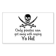 Pirate - Yo Ho Decal