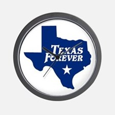 Texas Forever (Blue - Cutout Ltrs) Wall Clock