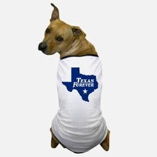 Texas Forever (Blue - Cutout Ltrs) Dog T-Shirt