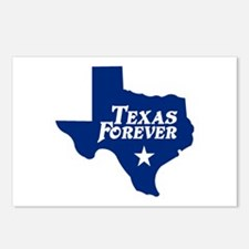 Texas Forever (Blue - Cutout Ltrs) Postcards (Pack