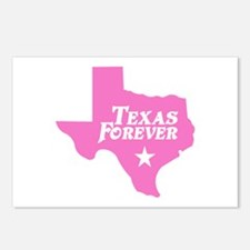 Texas Forever (Pink - Cutout Ltrs) Postcards (Pack