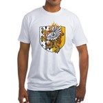 Flaming Gryphon Fitted T-Shirt