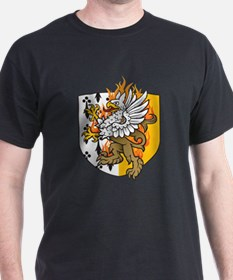 Flaming Gryphon Black T-Shirt