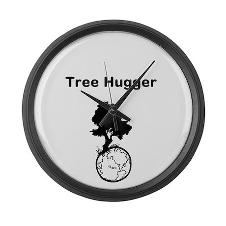 Tree Hugger Large Wall Clock