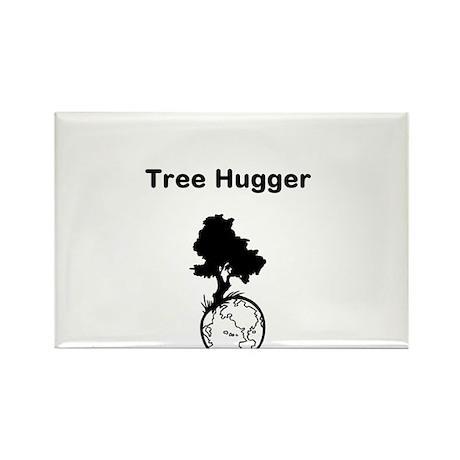 Tree Hugger Rectangle Magnet (10 pack)