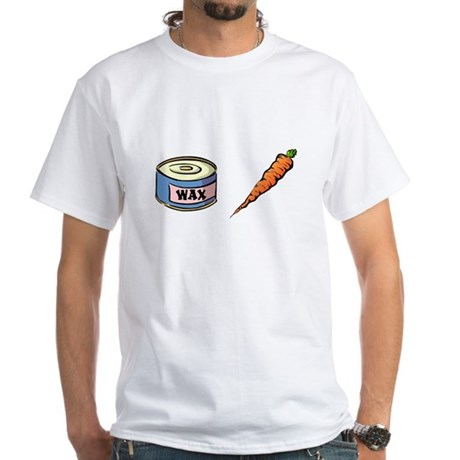 Wax the Carrot White T-Shirt