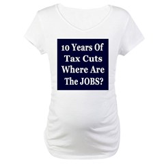 Where Are The Jobs?? Maternity T-Shirt