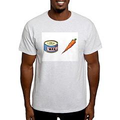 Wax the Carrot Ash Grey T-Shirt