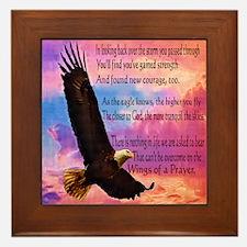 Wings of Prayer Framed Tile