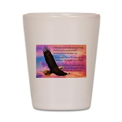 Wings of Prayer Shot Glass