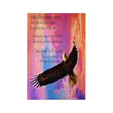 Wings of Prayer Rectangle Magnet