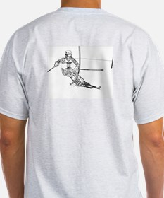 Snow Ski Ash Grey T-Shirt
